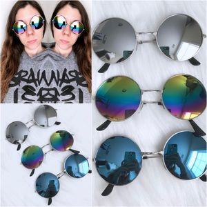 Accessories - Round Mirror Sunglasses